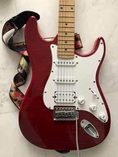 Electric guitar + Marshall speaker