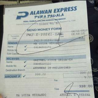 Prrof of payment and shipping😊
