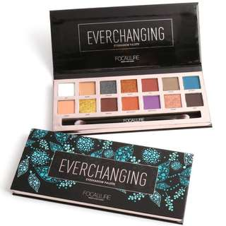 Authentic FOCALLURE Everchanging 14 Colors Eyeshadow Palette with brush