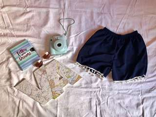 Code: C298 Style: dark blue boho shorts Size: s-m