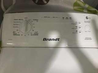 白朗洗衣機 上置式滚筒 800轉 6公斤
