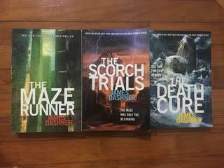 James Dashner Trilogy - Maze Runner, Scorch Trials, Death Cure