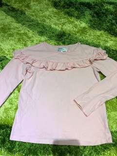 Pink Ruffle Long Sleeve