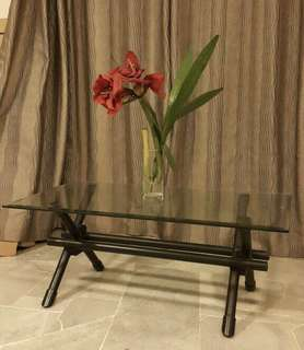 Cellini glass coffee table