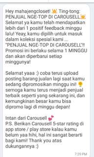 Yeaay thank you Carausell 💋