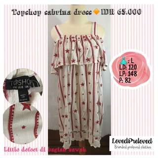 Topshop sabrina dress