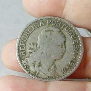 Pre-Euro Portugal 1 Escudo 1945 Used