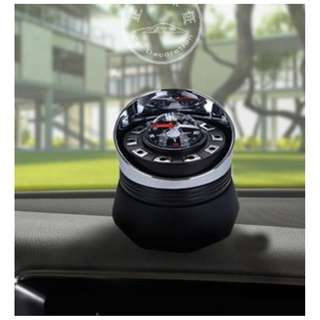 Car Stand Perfume Compass Design Rose Scent
