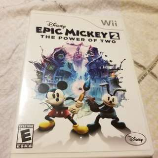 Wii Game EPIC MICKEY 2 The Power of Two