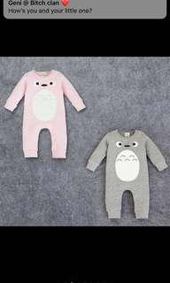 Baby Romper Unisex Pyjamas Cartoon Totoro Thick Sleeping Boy Girl Kids Children Jumpsuit Bodysuit [PO]