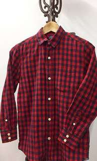 Gap Kids | Red Checkered Shirt | Size L (10Y) | 100% cotton