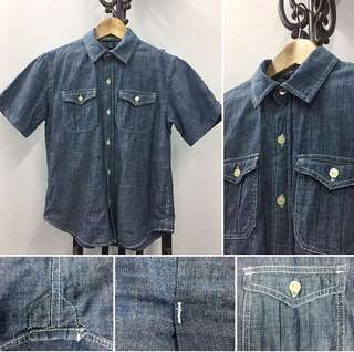 Gap Boy's Denim Shirt | 2 Front Pockets | Size M