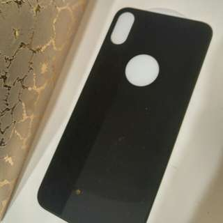 Iphone x黑色機背膜