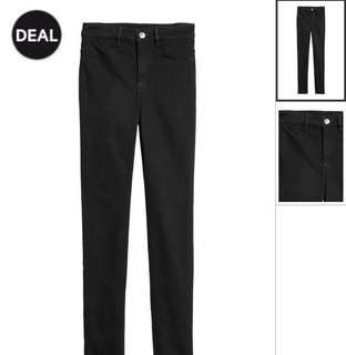 Original! H&M Black High Waist Pants