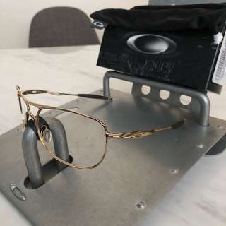 Oakley crosshair aviator polished gold frame