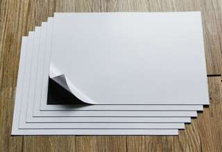A4 sized magnet with adhesive side 12pcs per pack