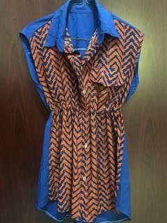 Collared Semi dress/ Top