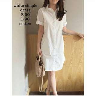 WHITE SIMPLE DRESS