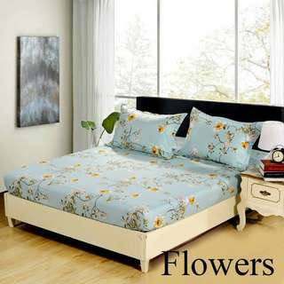 [FREE POSTAGE] Premium Artistic Design Queen Size  Bed Sheet
