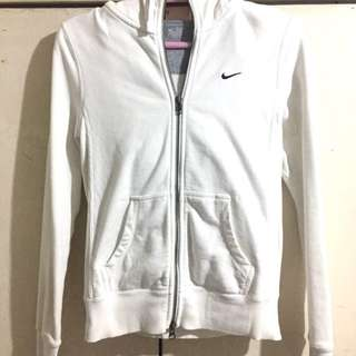 Authentic Nike White Hoodie Jacket