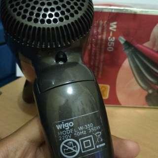 Wigo mini hair dryer msh lengkap dg box, jarang pakai karena berhijab