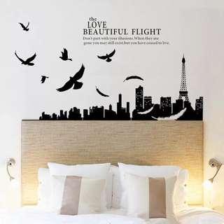 Eiffel Tower - Love Beautiful Flight Wall decal