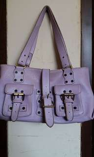 Cute purple leather bag
