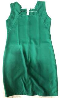Emerald green office dress