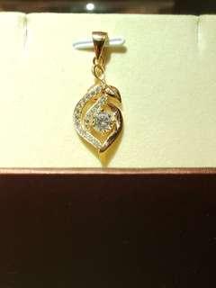 設計頸鏈水鑽包玫瑰金