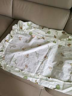 Bedsheet for baby cot