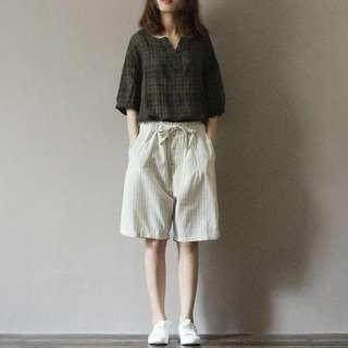BNWT Korean Pinstripe Shorts