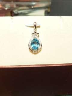 水滴型水晶項鍊silver 925 水鑽
