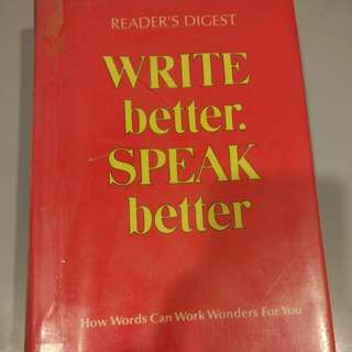 Write better speak better
