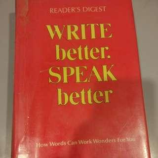 Write better speak better