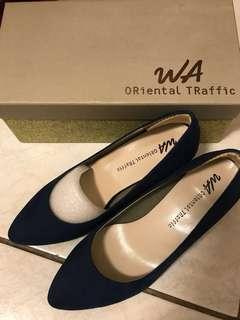 日牌ORiental TRaffic 寶藍色高跟鞋