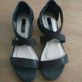 Paprika Cross Strap Slip on Sandals