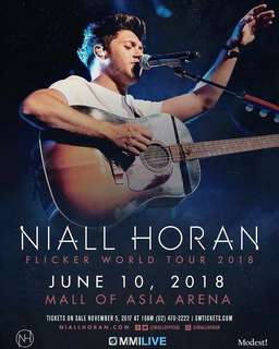 ONE LOWER BOX TICKET FOR NIALL HORAN IN MANILA #FLICKERTOURMNL