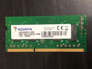 Adata DDR3L 1866 SO-DIMM notebook RAM 1.35V 2GB