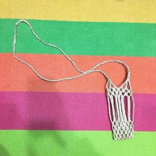 手工編織網狀水瓶袋
