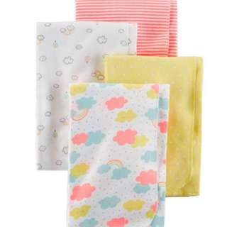 Carter's 4-Pack Flannel Receiving Blankets