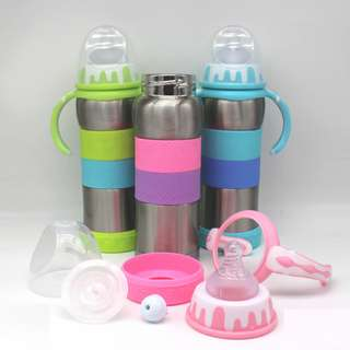 Baby Thermal Warmer Milk Bottle Thermos Vacuum Flask