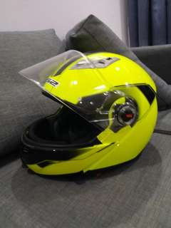 LS2 Open Fullface Helmet yellow