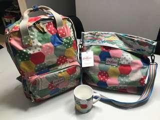 Cath Kidston BackPack, Reversible Folded Messenger Bag with matching Mug