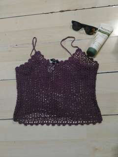 Mango crochet tank top