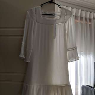 Ministry of Style - Dreamer Dress - Ivory | White Pleat | Size 8 | RRP: $199