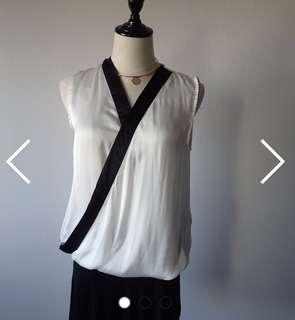 Kimuno style silk blouse