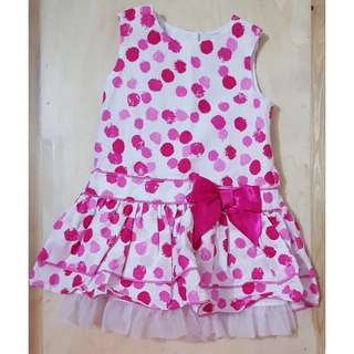 George Pink Polka Dot Dress with Hat (6-9 mos)
