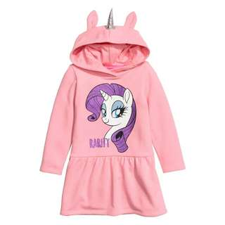 Pink unicorn hoodie dress