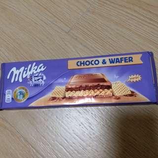 Milka chocolate & wafer
