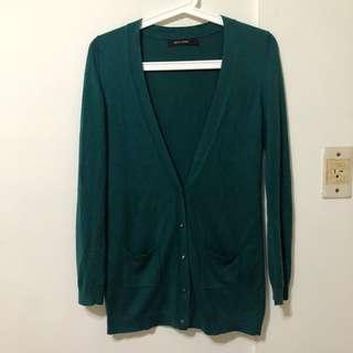 G2000 百搭小金扣綠色棉質外套 罩衫